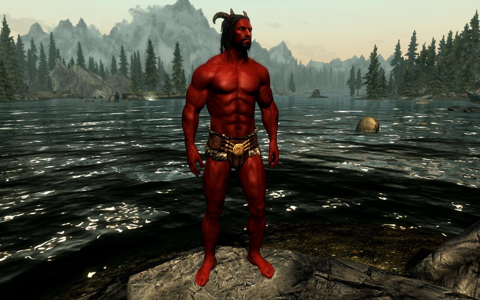 Моды на Скайрим Раса Демонов
